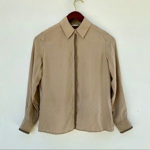 NEIMAN MARCUS silk button down shirt